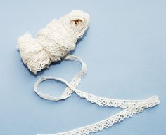 Ivory cotton lace L21 5 yds wide flowers eco friendly organic natural. $7.36, via Etsy.