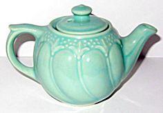 Aqua Swirl Individual Teapot