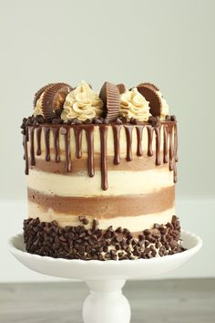 Creative Image of Peanut Butter Chocolate Birthday Cake . Peanut Butter Chocolate Birthday Cake Chocolate Cake With Whipped Peanut Butter Buttercream Baking With Food Cakes, Gourmet Cakes, Cupcake Cakes, Whipped Peanut Butter, Chocolate Peanut Butter, Peanut Butter Chocolate Cake, Peanut Butter Birthday Cake, Chocolate Naked Cake, Nutter Butter