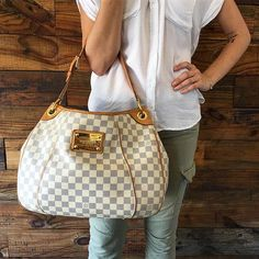 JUST IN! Louis Vuitton Damier Azur Galliera PM! Call/text us at 813-382-9491 if you would like additional information or would like to purchase!