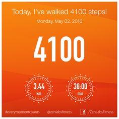 Monday, May 02, 2016 - 4100 steps