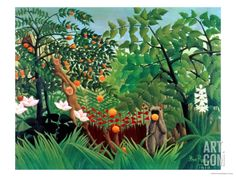 Exotic Landscape, 1910 Giclee Print by Henri Rousseau at Art.co.uk