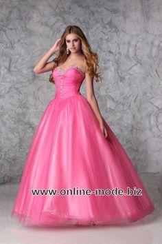 Abendkleid Ballkleid in Pink von www.online-mode.biz