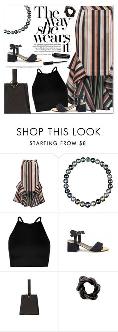 """""""Asymmetric skirt"""" by runway2street ❤ liked on Polyvore featuring Theo, Boohoo, Lolo, Jamie Wei Huang, Rachel Ravitch and Bobbi Brown Cosmetics"""