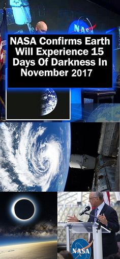 NASA Confirms Earth Will Experience 15 Days Of Darkness In November 2017