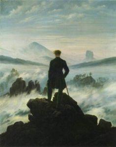 Caspar David Friedrich - Wanderer -triangles in composiotn