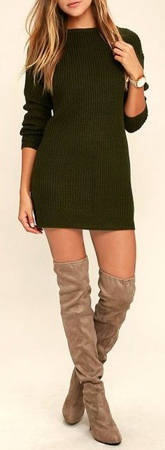 a9281bbf97 Love the  sweater dress! Long sleeve