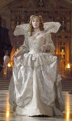 "Milla Jovovich playing Lady DeWinter in ""The Three Musketeers"". Lovely dress!"