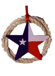 Texas Flag Star Ornament