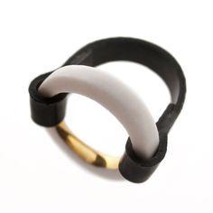 Anna Kiryakova » Porcelain   Rubber   Gold Ring