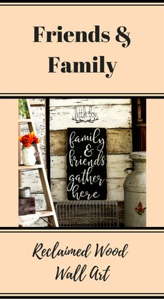 Friends and family gather here wall art, rustic decor #Affiliate