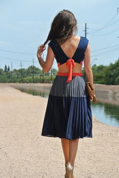 Cute, I mean I would like it without the bare back midriff, but the dress itself is adorable.