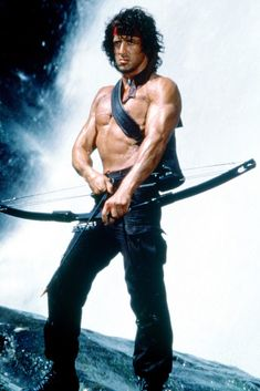 Sylvester Stallone Rambo, First Blood, Action Movie Stars, Action Movies, Rambo 2, Rocky Series, Silvester Stallone, Male Pose Reference, Superman