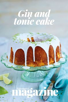 Nothing's better than your favourite tipple in a bake! Try this delicious iced gin and tonic cake - perfect for G&T lovers Gin Recipes, Cake Recipes, Gin And Tonic Cake, Refreshing Cocktails, Glaze Recipe, Bundt Cakes, Summer Salads, No Bake Desserts, So Little Time