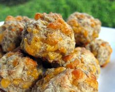 *For Christmas Eve* Secret ingredient is cream cheese. The cream cheese keeps the sausage balls very moist and tender. We used hot sausage to give the sausage balls a little kick, but regular sausage would work well too. Bring these to your next tailgate party - you wont be sorry! Cream Cheese Sausage Balls (Printable Recipe) 1 lb hot sausage, uncooked 8 oz cream cheese, softened 1 1/4 cups Bisquick 4 oz cheddar cheese, shredded Preheat oven to 400F. Mix all ingredie...