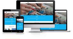 Responsywna strona internetowa zaprojektowana i wykonana przez WiWi dla zakładu instalacji elektrycznych #responsive #design #webdesign #inspiration #Responsive #Web #layout