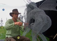 A 45 yr old artist & wire sculptor from the British Isles... Derek Kinzett's  wire art is amazing...   I love this fairy....     The...