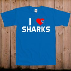 Shark shirt shark bite I heart sharks gift ideas for women gift ideas for men shark week gift mens ladies youth tshirt T-Shirt Tee shirt on Etsy, $17.99