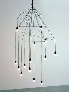 Wire chandelier  fixture  Lévy, Arik