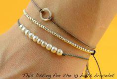 Sterling silver bracelet 10 balls bracelet par Zzaval sur Etsy