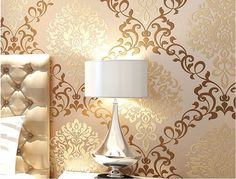 Shop our best value Gold Wallpaper on AliExpress. Check out more Gold Wallpaper items in Home Improvement, Home & Garden, Cellphones & Telecommunications, Consumer Electronics! And don't miss out on limited deals on Gold Wallpaper! Decor, Wall Wallpaper, Gold Damask Wallpaper, Glitter Wallpaper, Shop Wallpaper, Tv Decor, Gold Wallpaper Designs, Contemporary Living Room Design, Living Room Design Modern