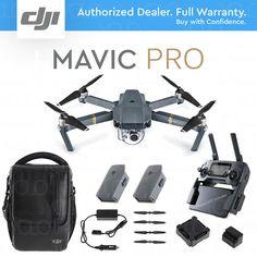 DJI MAVIC PRO 4K Camera + Fly More Combo CASE, CAR CHARGER, 2 EXTRA BATTERIES   | eBay