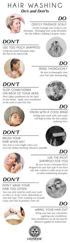 Hair Washing Dos and Don'ts