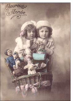 Carte Deux petites soeurs pour envoyer par La Poste, sur Merci-Facteur !