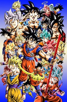 The Many Faces of Goku Dragon Ball Image, Dragon Ball Gt, Ssj2, Wallpaper Do Goku, Goku Transformations, Foto Do Goku, Ball Drawing, Fantasy, Son Goku