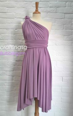 Bridesmaid Dress Infinity Dress BubbleGum Knee by craftingsg, $35.00 @Shelby McFall