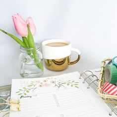 Sunday means it's time to start getting ready for next week. #filofax #planner #hannanilssondesigns #etsy #etsyseller #filofaxlove #planneraddict #plannergeek #filofaxlove #coffee #tulips #washi #washitape by hannanilssondesigns