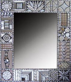 Glenmark Glass Mosaic News Glenys Fentimna Argentum Sampler series Mehr Mirror Mosaic, Mirror Art, Mosaic Art, Mosaic Glass, Mosaic Tiles, Glass Art, Mosaics, Stained Glass, Mirror Ideas
