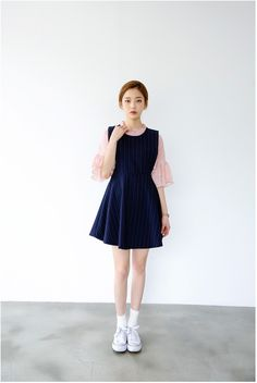 Frill Dot Blouse | Korean Fashion