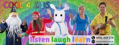 Listen Laugh and Learn with Music Cool 4 Kids style