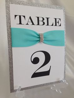 Tiffany Blue & Silver Rhinestone  Glitter Wedding Table by ELDNYC