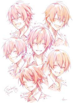 Anime Boy Smile, Cute Anime Boy, Anime Art Girl, Anime Guys, Smile Drawing, Anime Boy Zeichnung, Manga Drawing Tutorials, Anime Poses Reference, Anime Drawings Sketches