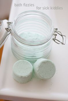 Bath fizzies for sick kiddies ~ homemade bath bombs