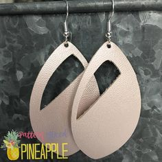 Faux Leather Earrings Stocking Stuffer Gifts for Her Vegan