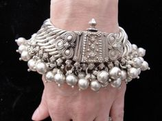 East Indian Sterling Silver Bracelet..circa 1960's to 1970's