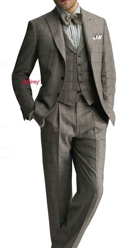 Brioni Three Piece Suit. Love this look