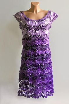 Hairpin Crochet Dress of satin ribbons.  Beautiful, but can somebody please translate the instructions for me?