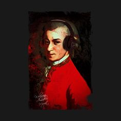 mozart amadeus listening to good music at headphones, a design for t-shirt hoodies and many more , clik on link Good Music, Photoshop, Shirt Hoodies, Headphones, Pictures, Painting, Twitter, Link, Design