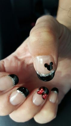 Disney Mickey Minnie Nails