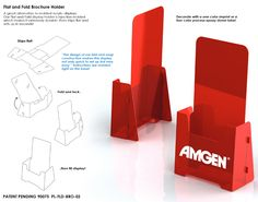 pop and lock brochure holders - Paper Brochure Holder Template