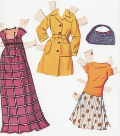 Carla at Home:  Hayley Mills paper doll clothes from the movie That Darn Cat