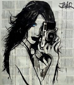 "Saatchi Art Artist Loui Jover; Drawing, ""snap  (SOLD)"" #art"