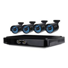 Eight-Channel Ahd Video Security System With 4 Cameras, 1280 X 720p Resolution