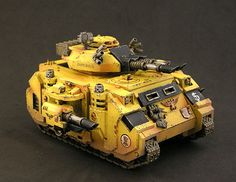 40k - Imperial Fists Predator via Minijunkie.com