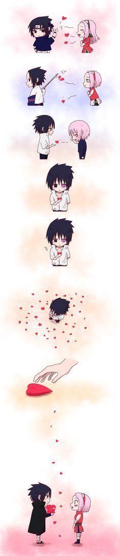 Sasuke finally realized how much Sakura meant to him!♥️