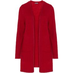 Samoon Red Plus Size Longline cardigan ($105) ❤ liked on Polyvore featuring tops, cardigans, red, plus size, longline cardigan, long sleeve tops, plus size cardigans, plus size tops and open front cardigan